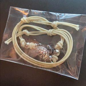 Turtle pull string bracelet/anklet